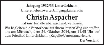 Zur Gedenkseite von Christa