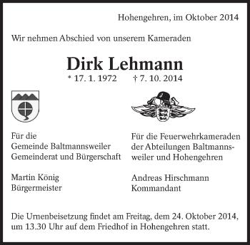 Zur Gedenkseite von Dirk