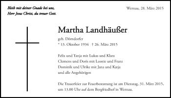 Zur Gedenkseite von Martha