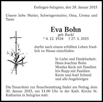 Zur Gedenkseite von Eva