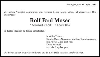 Zur Gedenkseite von Rolf Paul